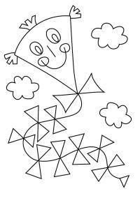 Skládačka a omalovánka: Papírový drak | Zlobidlo.cz Autumn Activities, Preschool Worksheets, Coloring Sheets, Art Lessons, Drake, Kids Rugs, Origami, Handmade, Beehive