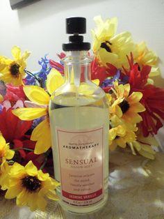 EUC Bath & Body Works Aromatherapy SENSUAL JASMINE VANILLA Pillow Mist 95% Full #BathBodyWorks