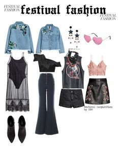 """""""festival festion"""" by lov3story on Polyvore featuring Mode, H&M, contest, HM, contestentry und festivalfashion"""