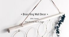 Brass Ring Wall Decor | by FEI - jing&fei