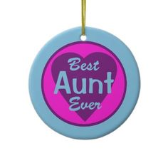 Best Aunt Ever Personalized Photo Ornament from http://www.zazzle.com/aunt+ornaments