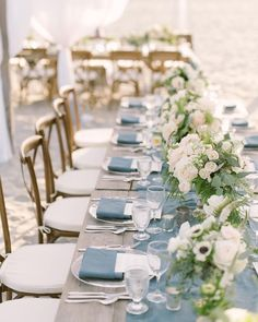 Blue Wedding Flowers Prettiest wedding tablescapes - 45 Ways to Dress Up Your Wedding Reception Tables ,cherry blossom wedding table decor Wedding Table Themes, Blue Wedding Decorations, Wedding Table Settings, Blue Wedding Themes, Nautical Wedding Decor, Wedding Table Runners, Blue Hydrangea Centerpieces, Nautical Wedding Centerpieces, July Wedding Colors