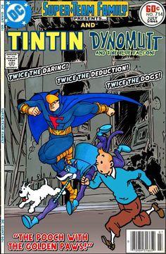 Les Aventures de Tintin - Album Imaginaire - Tintin and Dynomutt