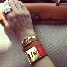 Hermes Herbag & Kelly Dog Bracelet
