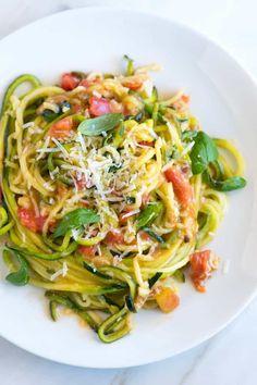 Guilt-Free Garlic Parmesan Zucchini Noodles Pasta Recipe