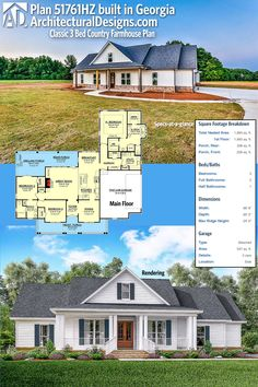 Our client built house plan 51761HZ in Georgia on a slab foundation to spec. We think it looks great! Ready when you are. Where do YOU want to build?