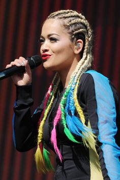 9 Nostalgic 'Dos That Are Rad Again #refinery29  http://www.refinery29.com/nostalgic-hairstyles#slide7  Cornrows were a red-carpet staple in the late '90s and early aughts, but Rita Ora's oversized version got a serious modern update with the addition of colorfully dyed ends.