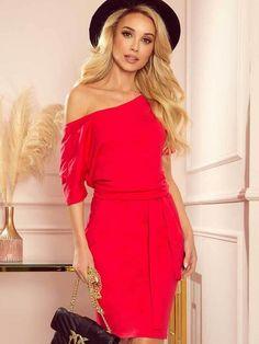 Dámske šaty na leto 249-3 červené