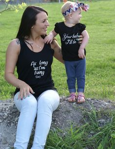 Your baby I'll be mommy and me shirt set by triotrendythreads