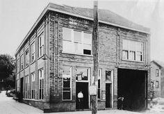 St Albans trolley car station 1914
