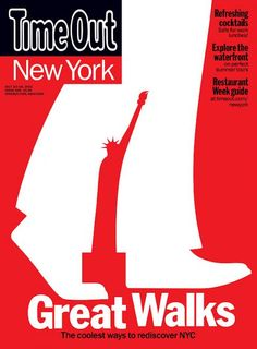 """Time Out (New York)  Fab new coverTime Out New York edition; """"Great Walks""""Illustrated by aceNoma BarDesign DirectorAdam FulrathDesigner: Kathryn BrazierEditor in Chief: Michael Martin"""