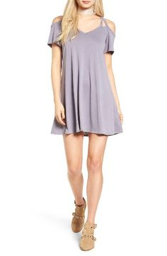 Free shipping and returns on Socialite Sofia Cold Shoulder Dress at Nordstrom.com. The beloved shirtdress gets a playful update thanks to a strappy neckline and breezy cut-out shoulders.