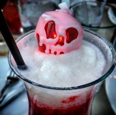 Poison Apple glow cubes at Cove Bar.