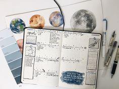 "studyskylar:  ""busy week ahead! here's a lil space theme  """