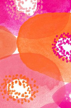 Bold Orange and Pink Floral