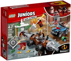 LEGO Juniors Disney Incredibles 2 Underminer Bank Heist 10760 - image 4 of 5 All Lego, Lego Dc, Lego Marvel, Disney Incredibles, Lego Junior Sets, Lego Juniors, Disney Ornaments, Lego Construction, Lego News