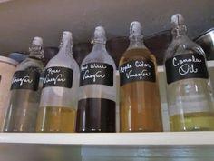 Use sparkling lemonade bottles to store vinegars and oils.