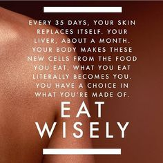 What you eat literally becomes you. What are you feeding your cells this week?  emilysjoycoaching.com