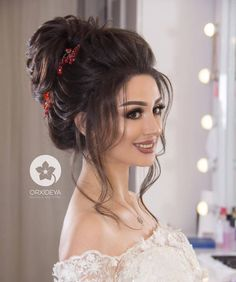 wedding gown hairstyle indian & hairstyle on gown indian _ hairstyle on gown indian wedding _ gown hairsty Bridal Hairstyle Indian Wedding, Bridal Hair Buns, Bridal Hairdo, Hairdo Wedding, Long Hair Wedding Styles, Indian Bridal Hairstyles, Wedding Hair And Makeup, Hair Makeup, Hairstyles For Gowns