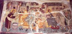 manuel-panselinos-from-the-holy-church-of-the-protaton (132) Orthodox Icons, Illuminated Manuscript, Fresco, Byzantine, Holi, Jesus Christ, Painting, Mosaics, Ministry