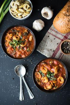 Tortellini Pasta e Fagioli Soup | superman cooks