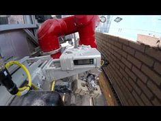 Masonry Construction Robot laying Bricks on a construction site - YouTube