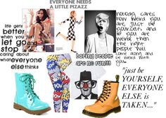 """""""JUST BE YOURSELF!"""" by princessconsualabananahammoc ❤ liked on Polyvore"""