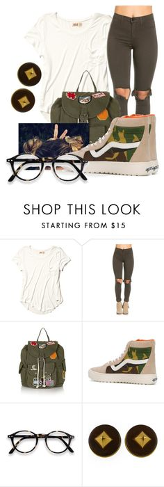 """Untitled #519"" by msfts-rep ❤ liked on Polyvore featuring Hollister Co., Topshop, Vans and Hermès"