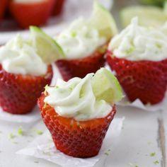 Key Lime Pie Stuffed Strawberries Recipe - RecipeChart.com