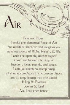 The 476 best elemental magick images on pinterest magick this handy reference poster offers an evocation to call the element of air elemental evocation is used to summon the energy of the elements earth air fandeluxe Images