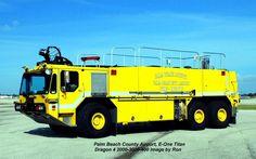 Palm Beach County Fire Rescue Dragon 4 At Palm Beach International Airport.