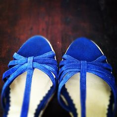 Strappy sandles for the big day