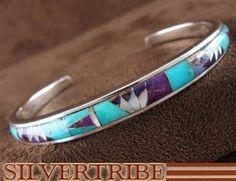 Turquoise Multicolor Genuine Sterling Silver Bracelet