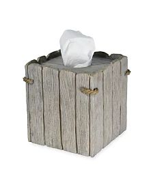 Destinations Driftwood 2 Waste Basket & Reviews - Bathroom Accessories - Bed & Bath - Macy's Tissue Box Covers, Tissue Boxes, Shower Nozzle, Dining Room Bench, Beach Boardwalk, Cover Gray, Covered Boxes, Rustic Charm, Bars For Home