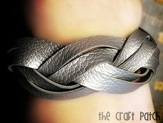 Braided leather cuff bracelet tutorial