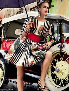 Mirte Maas by Giampaolo Sgura for Vogue Brasil 'Carmen Miranda Reloaded' Editorial - February 2013