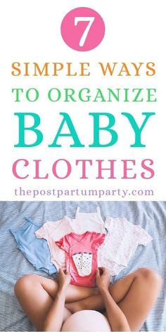 How to Organize Baby Clothes - Get inspiration and ideas for organizing all of your baby's clothes the best way. Keep clothes in bins in dresser drawers to make it easier to find items you need or use the closet for storage in smaller spaces. Baby Closet Organization, Clothing Organization, Organization Ideas, Baby Clothes Sizes, Baby Jeans, Organized Mom, Preparing For Baby, Babies First Year, Clothing Hacks