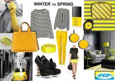 #moodboard #yellow #grey created on www.sampleboard.com