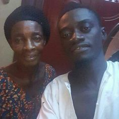 """Lil Win and mum Ghanaian comedian, Kojo Nkansah, Aka 'Lil Win' shares a photo with his lovely mum, Ante Afrah. On his facebook page, he disclosed words of comfort his mom always said to him: """"Kojo remember the good times, be strong during the difficult times, love Always, and smile often and..."""