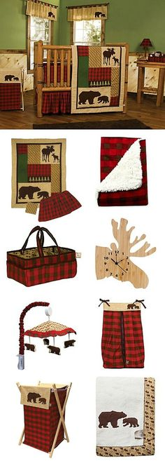 Trend Lab®️ Northwoods Crib Bedding CollectionTrend Lab's Northwoods Crib Bedding will turn your little one's room into a cozy cabin, with its mix of moose and bear prints, buffalo checks, and woodsy colors like deep red, chocolate brown, green, and tan.#affiliate #buybuybaby #nursery #homedecor #baby