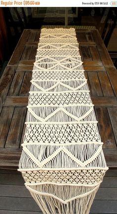 Handwoven Macrame Table Runner, Handmade Wedding Table Runner, Wholesale Wedding…
