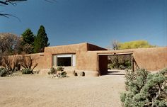 Georgia O'Keeffe's house and studio in Abiquiu, New Mexico. Photo by Herb Lotz.