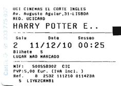 "Cinema: ""Harry Potter: The Deadly Hallows - Part 1"" (Harry Potter: Os Talismãs da Morte - Parte 1). 2010-12-11 ."