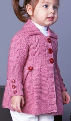 Discover thousands of images about 64 Trendy Knitting Cardigan Girl Sweater Coats Knitting Baby Girl, Baby Cardigan Knitting Pattern Free, Crochet Baby Jacket, Knitted Baby Cardigan, Knit Baby Booties, Knitted Coat, Crochet Pattern, Baby Girl Sweaters, Barn