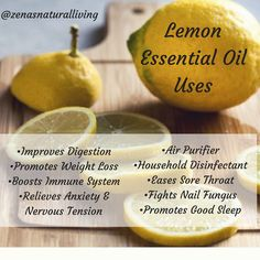 Here are just a few uses for lemon essential oil. #EssentialOils #DIYBeauty #DIYHouseholdProducts #YoungLiving