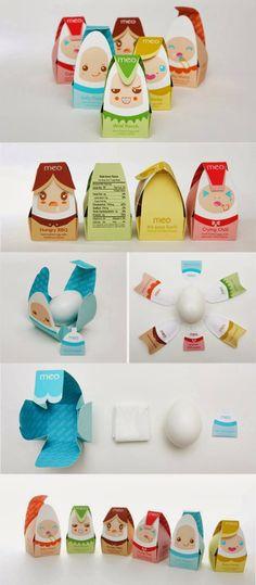 บรรจุภัณฑ์ไข่ไก่น่ารักๆจาก meo จาก Bunjupun.com