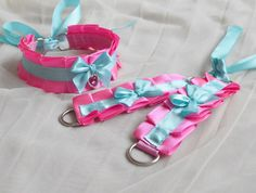Hey, I found this really awesome Etsy listing at https://www.etsy.com/listing/481294434/kitten-play-collar-and-cuffs-pink-doll