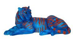 Cód;. 107.061 - Tigre Bengala Deitado Blue Fullway - 20x41x17