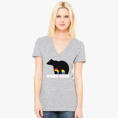 17e9459d05e3c Mama Bear Women s V-Neck T-shirt