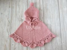 Baby Crochet Poncho, Hooded Knit Poncho, Baby Girl Cape, Toddler Alpaca Sweater, Made To Order Crochet Baby Poncho, Knitted Poncho, Crochet Shawl, Baby Knitting, Knit Crochet, Knitting Needles, Girls Cape, Girls Poncho, Hooded Poncho